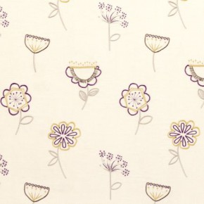 Clarke and Clarke Festival Jubilee Elderberry Curtain Fabric