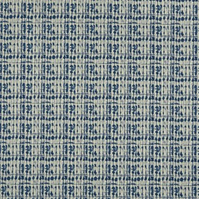 Clarke and Clarke Batik Kediri Indigo  Curtain Fabric