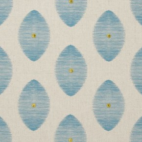 Clarke and Clarke Zanzibar Kindu Aqua Made to Measure Curtains