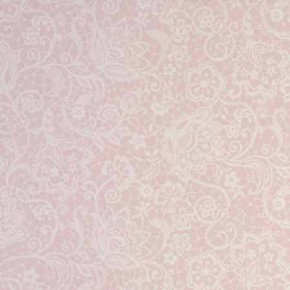 Clarke and Clarke Garden Party Lace Pink Curtain Fabric