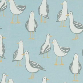 A Land and Sea Laridae Duckegg Curtain Fabric