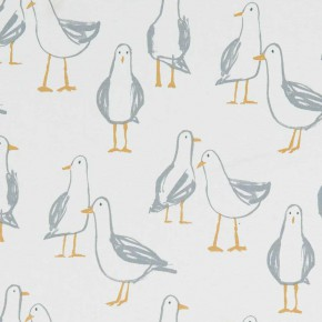 A Land and Sea Laridae Natural Curtain Fabric