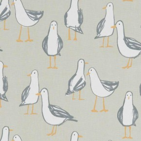 A Land and Sea Laridae Taupe Curtain Fabric