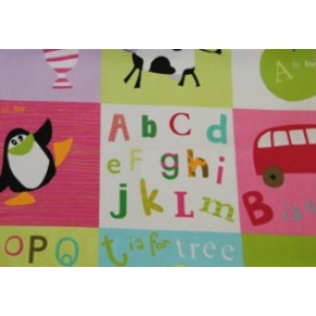 Pirates and Princesses Letterbox Pink Roman Blind