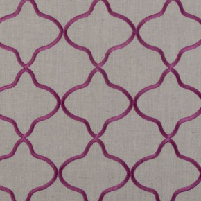 Clarke and Clarke Bukhara Leyla Berry Curtain Fabric