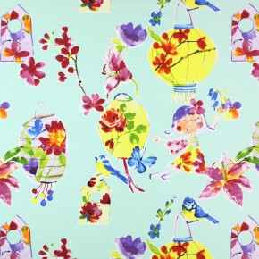 Prestigious Textiles Be Happy LilyLantern Paradise Curtain Fabric