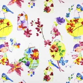 Prestigious Textiles Be Happy LilyLantern Tropical Roman Blind