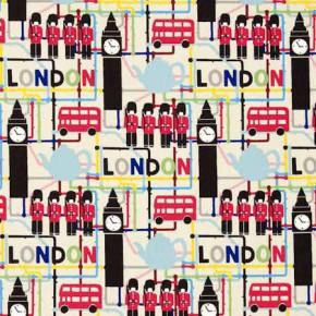 Clarke and Clarke Blighty London Multi Curtain Fabric