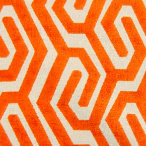 Rocco Maddox Tangerine Made to Measure Curtains