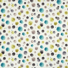 Clarke and Clarke Batik Madura Charteuse-charcoal Curtain Fabric
