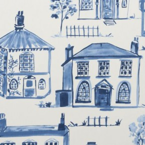 Clarke and Clarke Folia Maison Delft Curtain Fabric