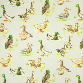 Country Fair Mallard Linen Roman Blind