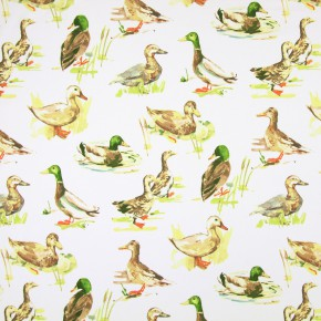 Country Fair Mallard Watercolour Curtain Fabric