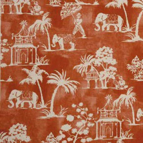 Clarke and Clarke Indienne Mandir Cinnabar Curtain Fabric