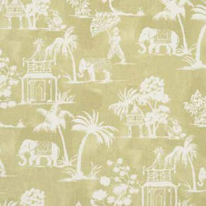 Clarke and Clarke Indienne Mandir Olive Curtain Fabric