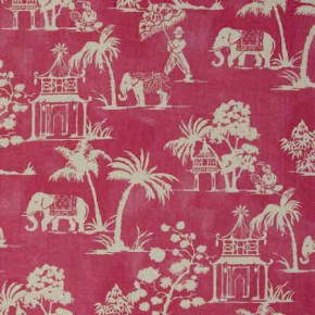 Clarke and Clarke Indienne Mandir Sorbet Curtain Fabric