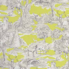 Clarke and Clarke Garden Party Manor Toile Citrus Curtain Fabric
