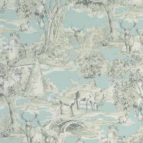 Clarke and Clarke Garden Party Manor Toile Mineral Curtain Fabric