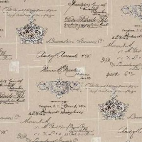 Clarke and Clarke Fougeres Manuscript Linen Made to Measure Curtains