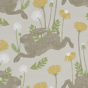 A Land and Sea March Hare  Linen  Curtain Fabric