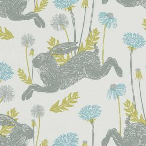 A Land and Sea March Hare  Mineral  Curtain Fabric