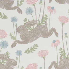 A Land and Sea March Hare  Pastel  Curtain Fabric