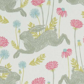 A Land and Sea March Hare  Summer  Curtain Fabric
