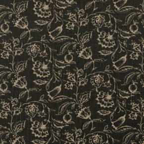 Clarke and Clarke Clarisse Marie Charcoal Curtain Fabric
