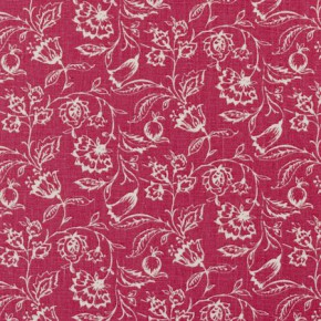 Clarke and Clarke Clarisse Marie Raspberry Curtain Fabric