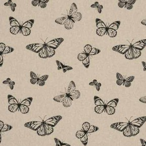 Clarke and Clarke Fougeres Mariposa Noir Curtain Fabric