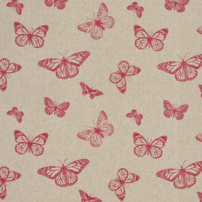 Clarke and Clarke Fougeres Mariposa Pink Curtain Fabric