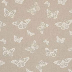 Clarke and Clarke Fougeres Mariposa White Curtain Fabric
