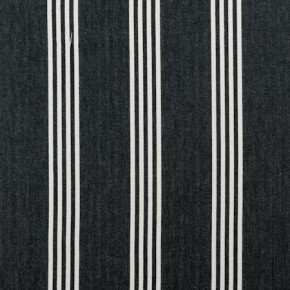 Clarke and Clarke Ticking Stripes Marlow Charcoal Made to Measure Curtains