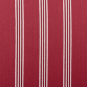 Clarke and Clarke Ticking Stripes Marlow Red Curtain Fabric