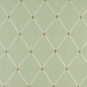 Tatton Linens Marton Eau De Nil Curtain Fabric