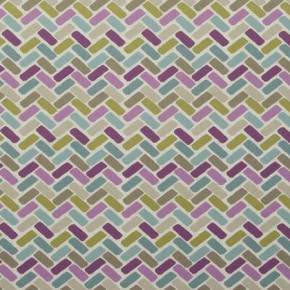 Clarke and Clarke Cariba Maya Heather Curtain Fabric