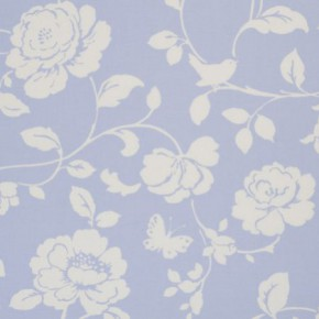 Clarke and Clarke Vintage Classics Meadow Powder Blue Made to Measure Curtains