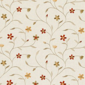 Clarke and Clarke Ribble Valley Mellor Spice Curtain Fabric