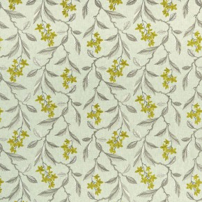 Clarke and Clarke Halcyon Melrose Chartreuse Curtain Fabric