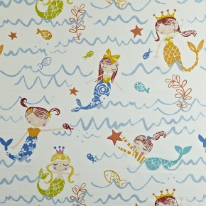 Prestigious Textiles Playtime Mermaid Azure Curtain Fabric
