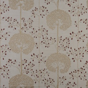 Prestigious Textiles Eden Moonseed Cranberry Curtain Fabric
