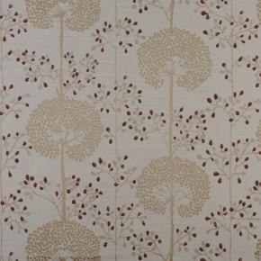 Prestigious Textiles Eden Moonseed Cranberry Curtain Fabric