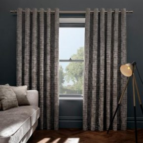"Naples Taupe Eyelet Curtains 46 "" wide x 90"" drop"