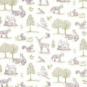 Clarke and Clarke Blighty Newforest Natural Curtain Fabric