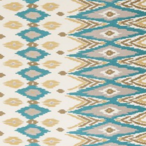 Clarke and Clarke Nomad Teal Curtain Fabric