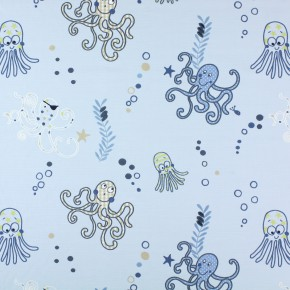 Prestigious Textiles Be Happy Octopus Denim Curtain Fabric