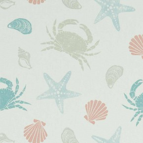 A Land & Sea Offshore Pastel Curtain Fabric