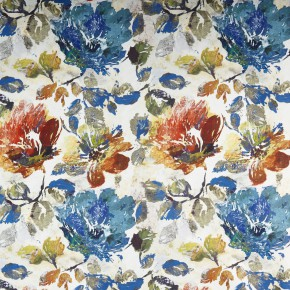 A Prestigious Textiles Decadence Opium Sapphire Curtain Fabric