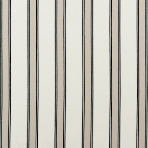 Clarke and Clarke Ticking Stripes Oxford Charcoal Made to Measure Curtains