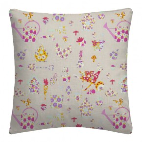 Clarke and Clarke Blighty Allotment Pink Cushion Covers